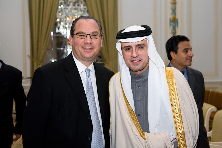 FFEU President Rabbi Marc Schneier (L) and Saudi Arabia Amabassador to the United States of America Adel Al- Jubeir (R).