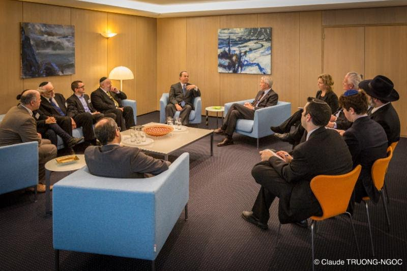 The GEMJL Delegation meets with Council of Europe Secretary General Thorbjorn Jagland.