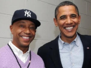 FFEU Chairman Russell Simmons (L) and Former President Barack Obama (R)