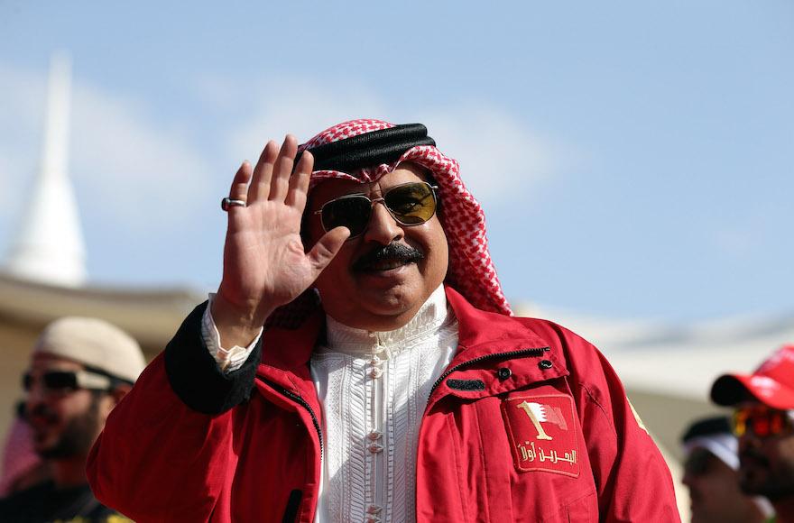 The King of Bahrain, Hamad bin Isa Al Khalifa in Bahrain, Dec. 5, 2105. (Nigel Roddis/Getty Images for Ironman).