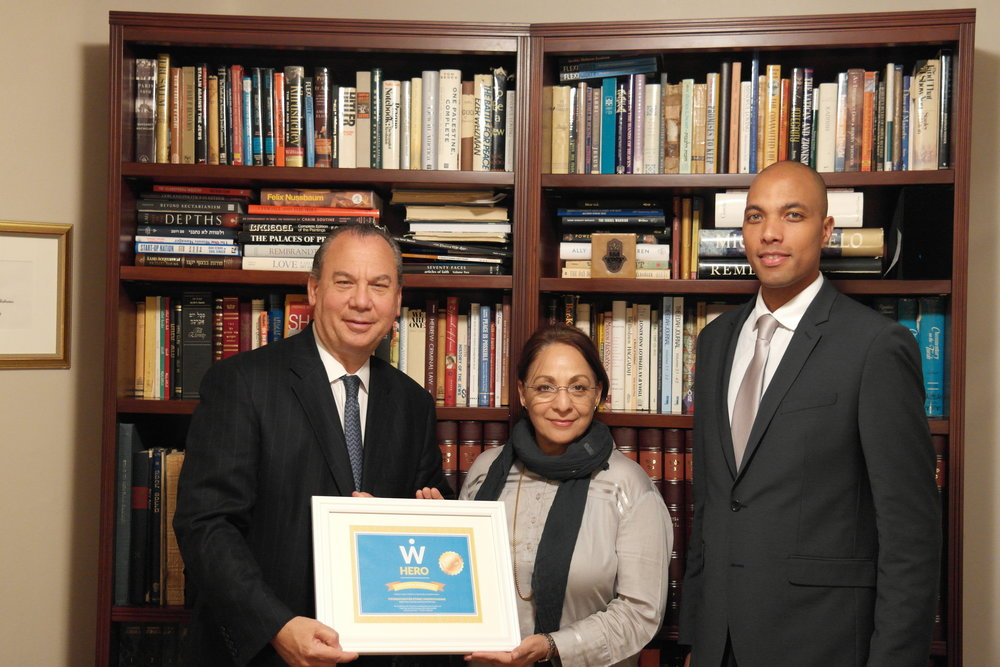 L-R: FFEU President Rabbi Marc Schenier, WISE Founder and Executive Director Daisy Khan and FFEU Executive Director Chris Sacarabany.