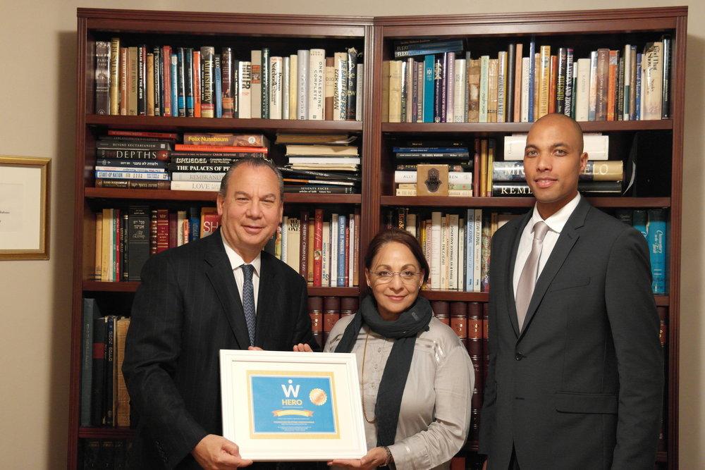 L-R: FFEU President Rabbi Marc Schenier, WISE Founder and Executive Director Daisy Khan and FFEU Executive Director Chris Sacarabany.