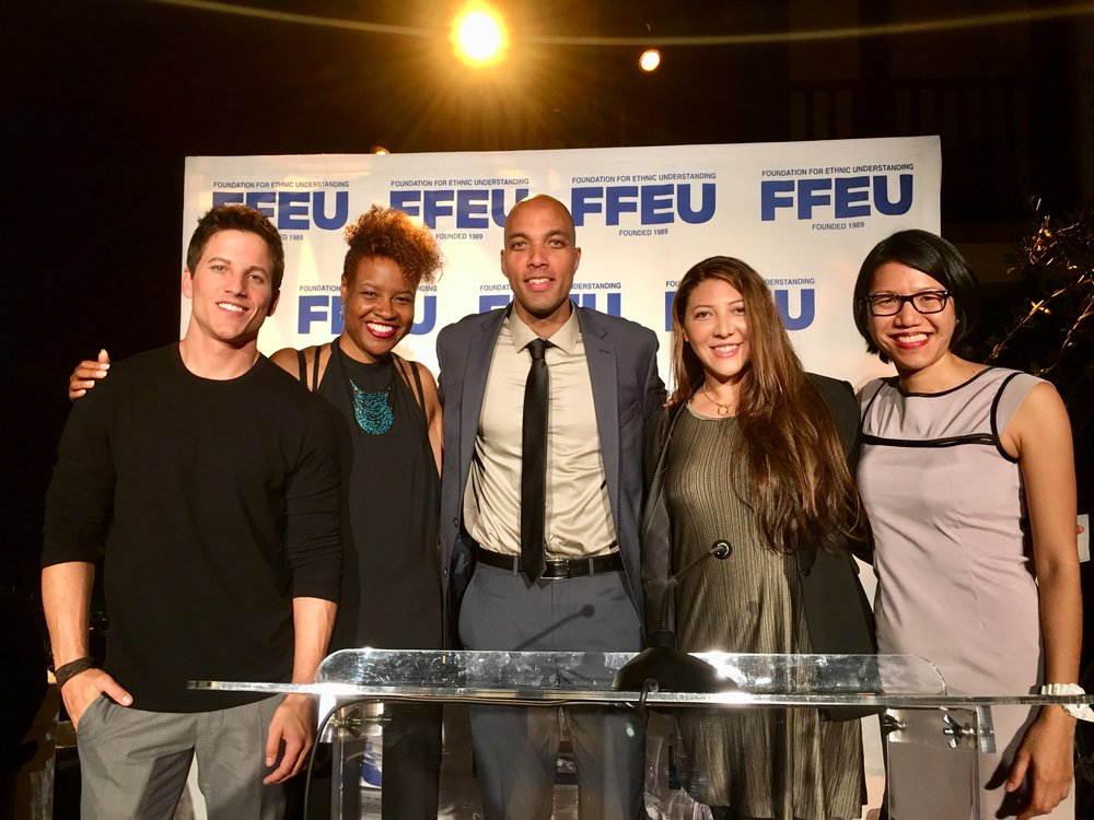 L-R: Jinn Executive Producer Mike Manning, Jinn Producer Avril Z. Speaks, FFEU Executive Director Chris Sacarabany, FFEU Social Media Strategist Adriana Jansen, FFEU Executive Assistant Marie Banzon-Prince.