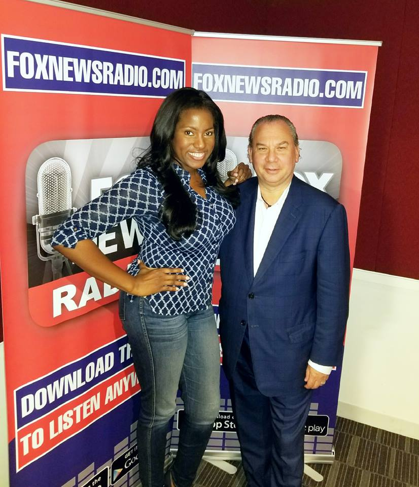 Fox News Radio host, Crystal Berger and FFEU President Rabbi Marc Schneier.