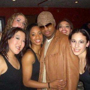 "The dance group ""Eithne"" I was part of after opening a show for Ne-Yo!"