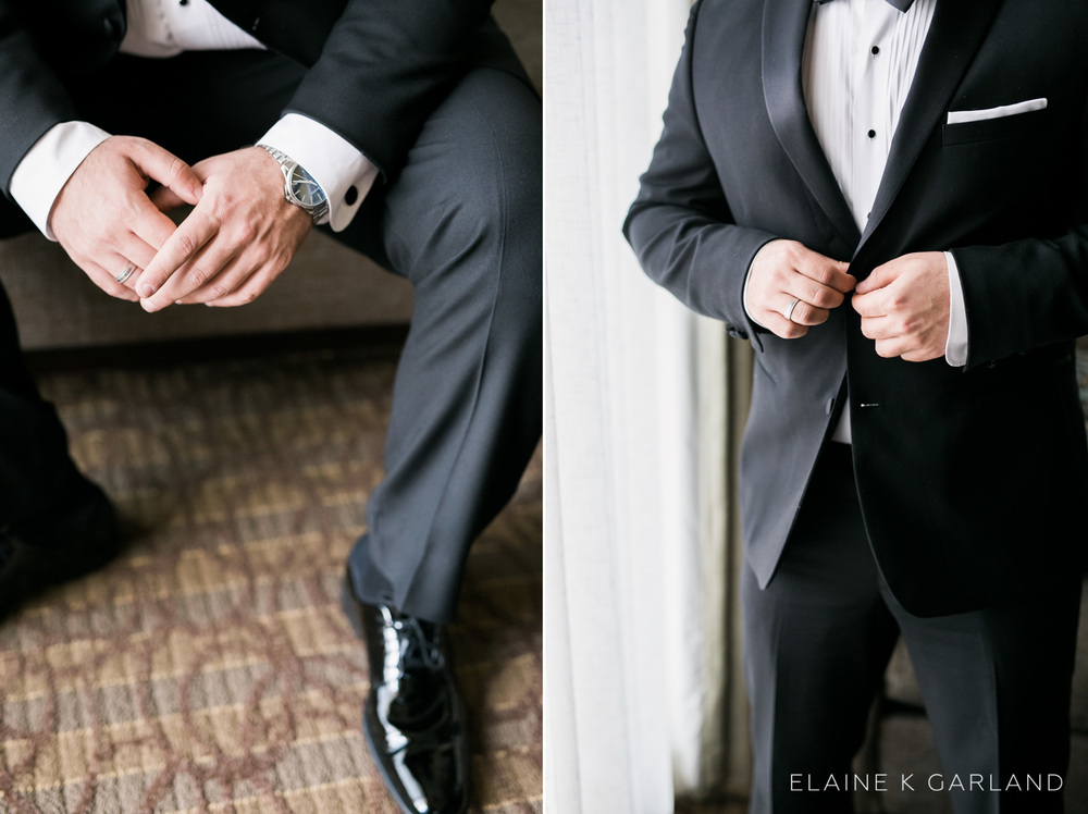 I'm such a sucker for groom details. And his satin lapels?? <3
