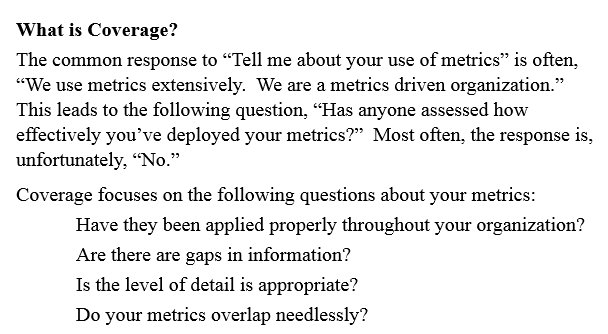 metrics what is coverage