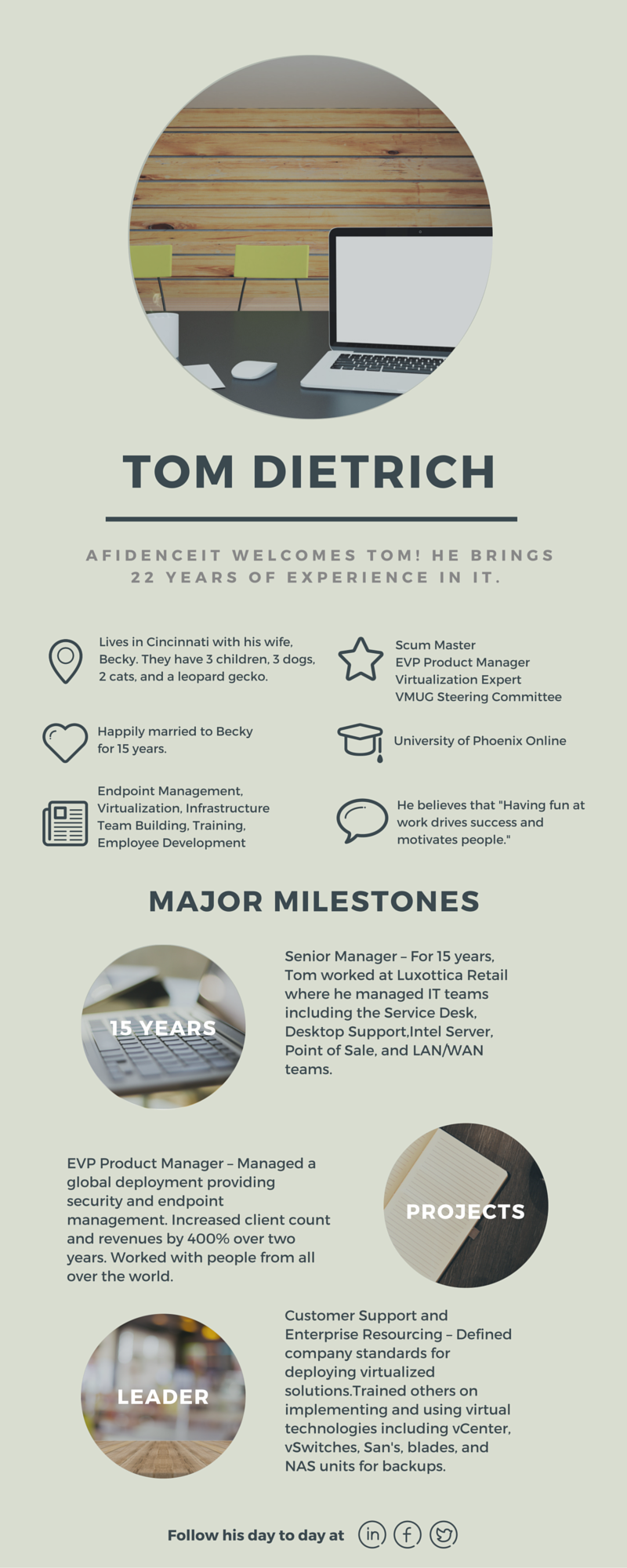 AfidenceIT is Growing: Welcome Tom Dietrich