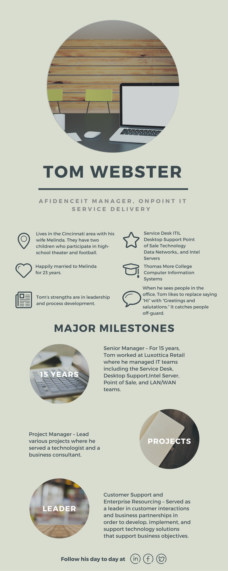 Meet Tom Webster Infographic