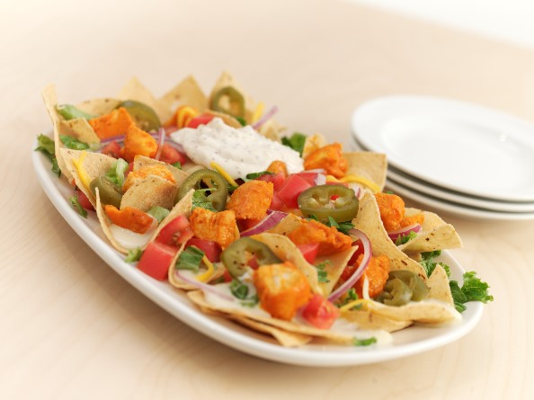 Buffalo Wings and Rings Nachos