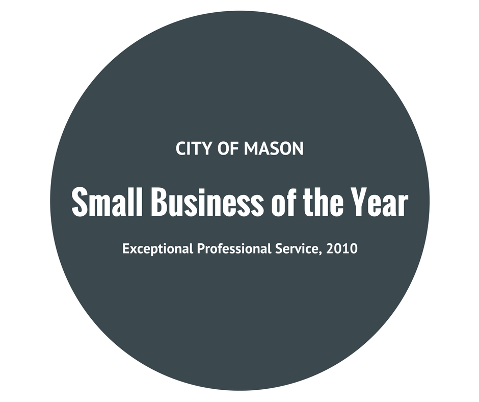Afidence Small Business of the Year City of Mason