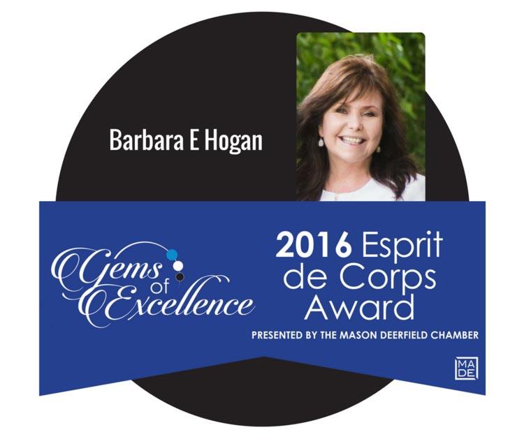 Barbara E Hogan - Esprit de Corps Award