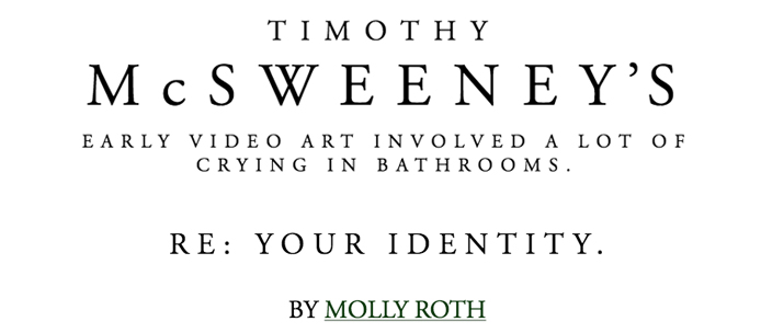 Humor piece published on McSweeney's Internet Tendency