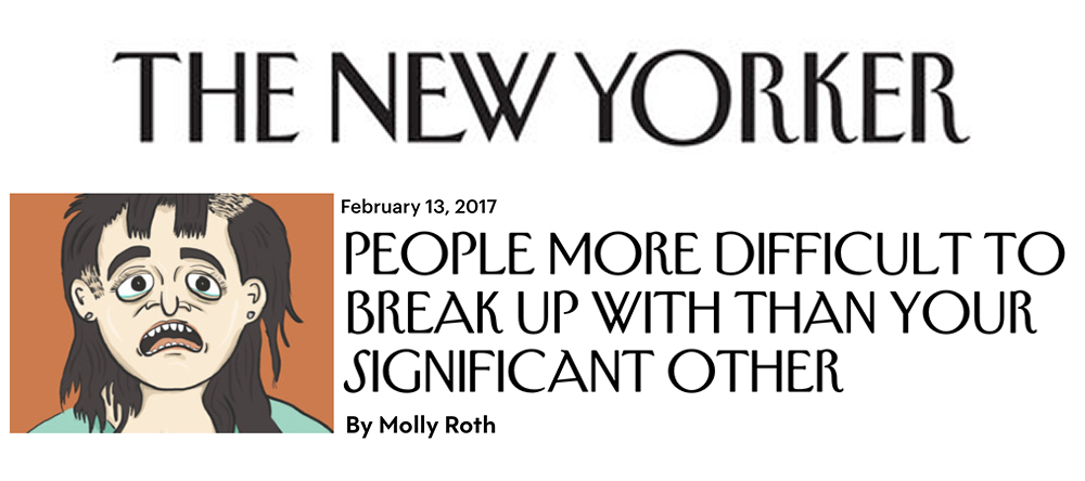 Difficult Breakups for the New Yorker Daily Shouts blog