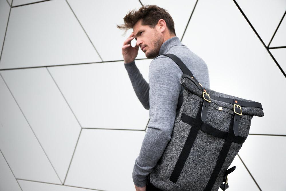 Bag:  Dyemond Goods Outland backpack //Top:  Dilor knitted turtle neck //Pants:  Bellerose Plano