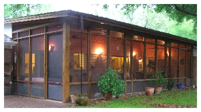 Screened in porch in Bryan / College Station, by Stearns Design Build. The perfect hang out spot.