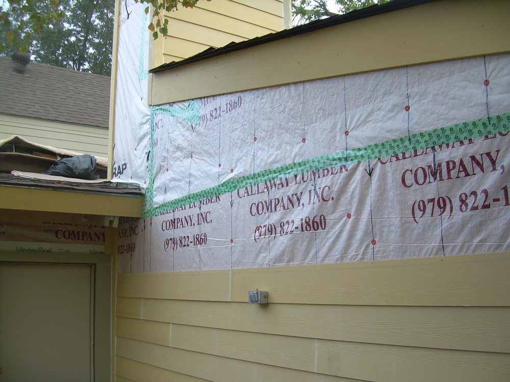 Stearns Design Build replacing siding in Bryan / College Station.