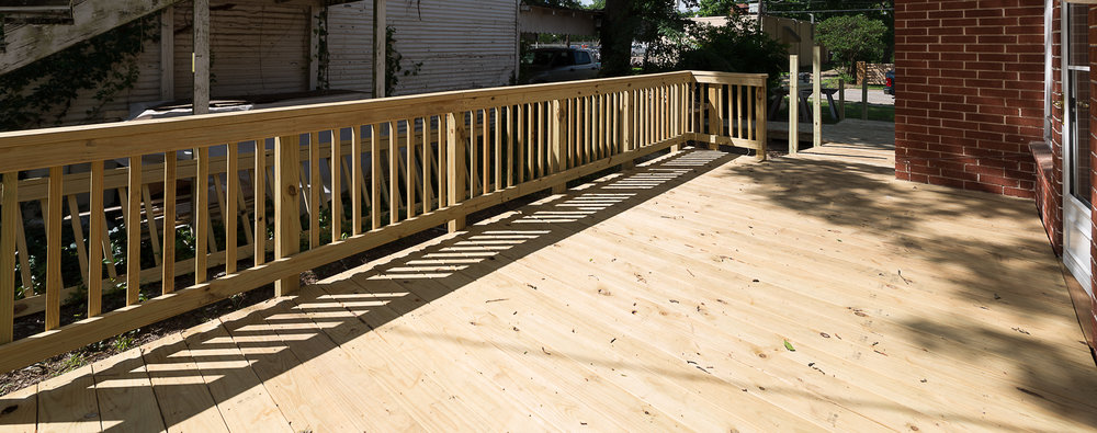 Deck addition in Bryan / College Station, by Stearns Design Build. All wood, and materials came from Texas.