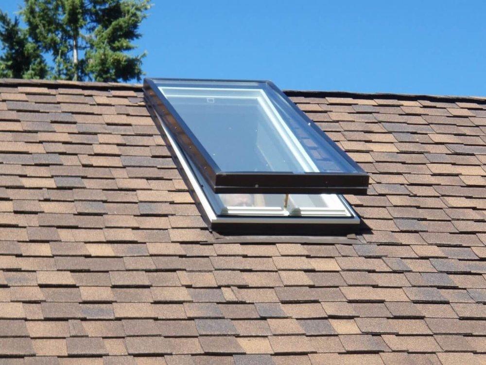 Skylight on a roof.