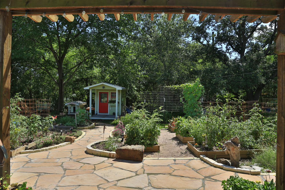 Home Remodel in Bryan / College Station, by Stearns Design Build. A herb garden is a great addition to any out door kitchen.