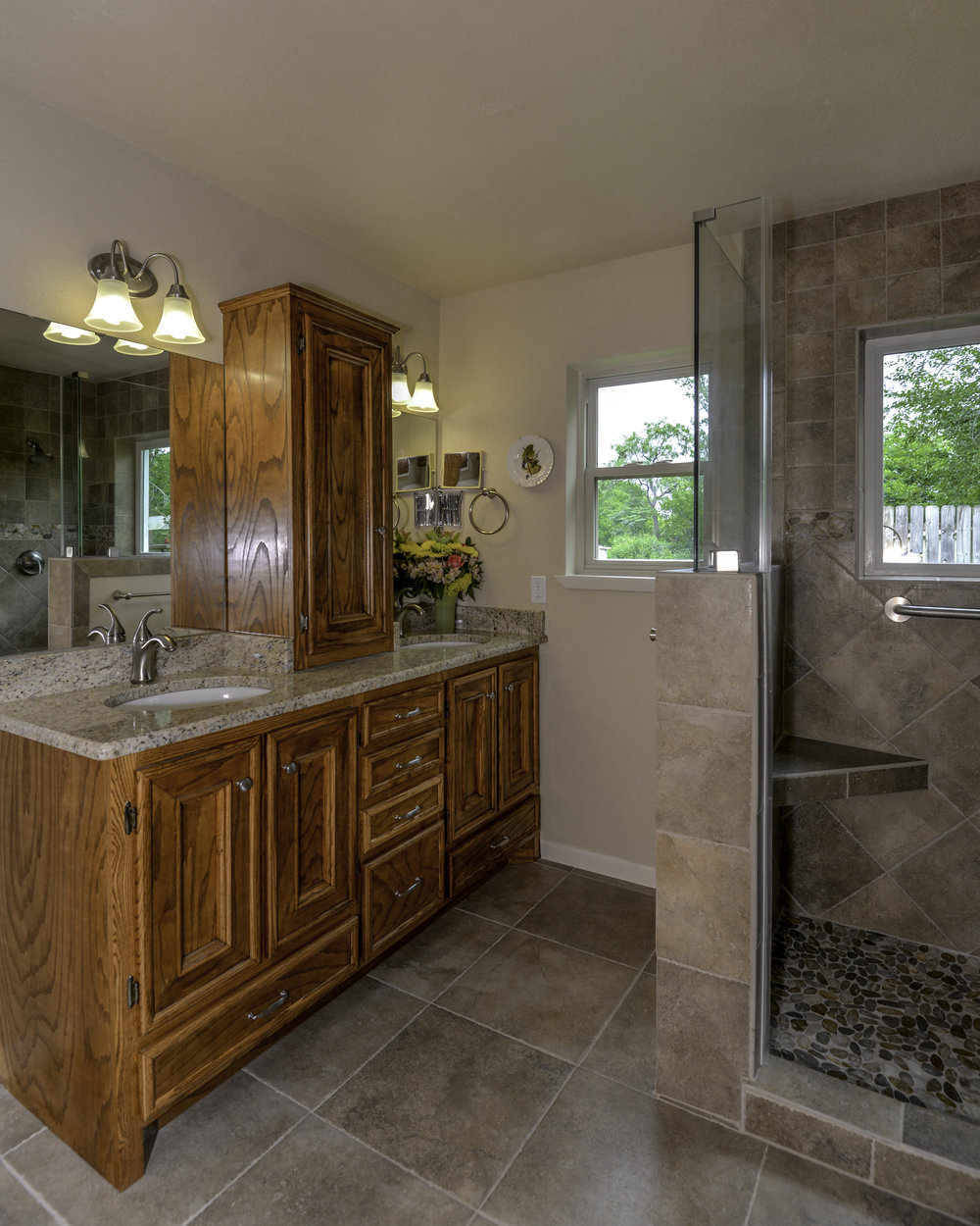 Bathroom remodel in Bryan / College Station, by Stearns Design Build.