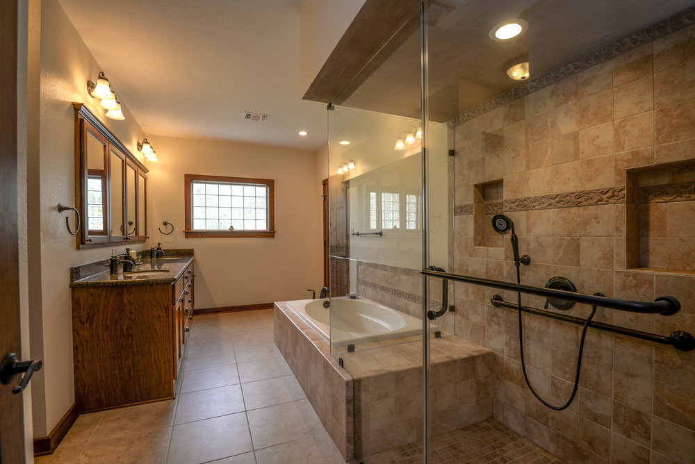 Bathroom remodel in Bryan / College Station, by Stearns Design Build. We took advantage of the space that was available, and opened it up.