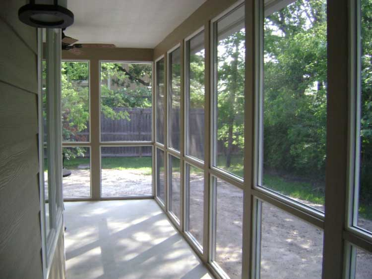 Screened Porch Addition College Station