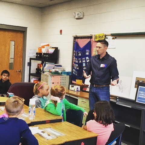 Had the great pleasure talking with 4 classes of fourth graders at River Valley Middle School for career day. Many enthusiastic children about how to become a graphic designer and how creativity can lead to a career. #graphicdesign #careerday #conviercollective #branding #chicago #marketing #marketingstrategy #mentorship #drawing #thefuture #inspire