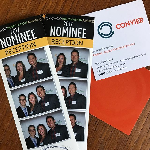 Convier representing at the Chicago Innovation Award Nominee Reception #chicago #2017cianominees #fullofenergy #lookingood #conviercollective @chi_innovation