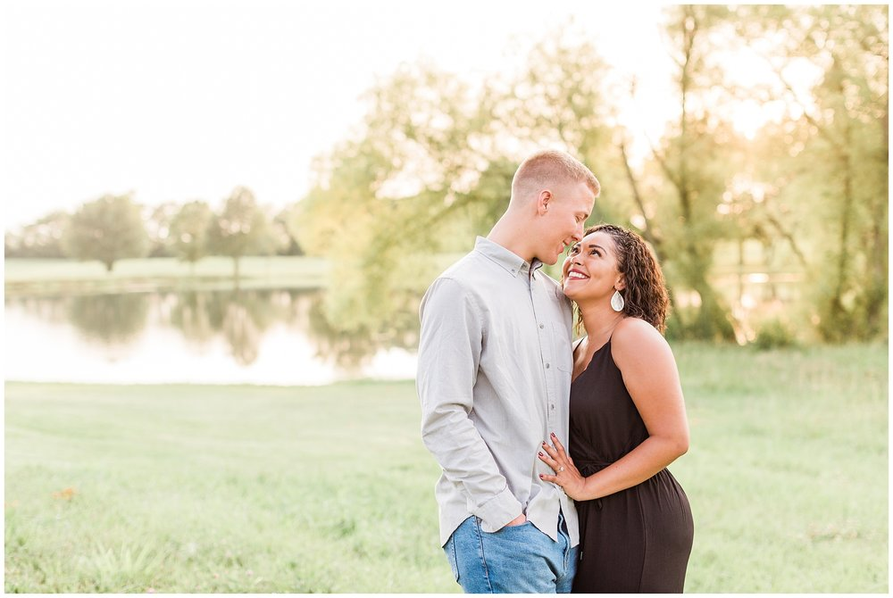 This engagement session was such a Kentucky session, and not just because of the location. We had a little bit of rain and then a beautiful beautiful sunset. Dana and Seth are high school sweet hearts and their wedding will be on the blog soon.