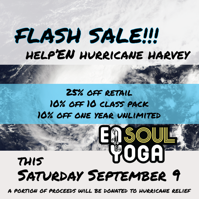 Here's your chance to help out, AND get a great deal on your  EnSoul Yoga  and  Niyama Sol  retail, class pack, or unlimited one year membership.