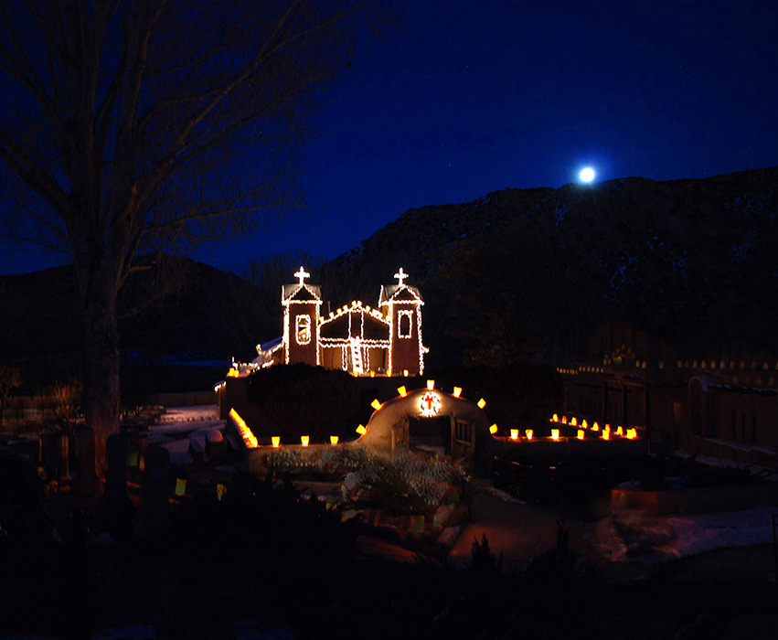 Moonrise Chimayo Christmastime