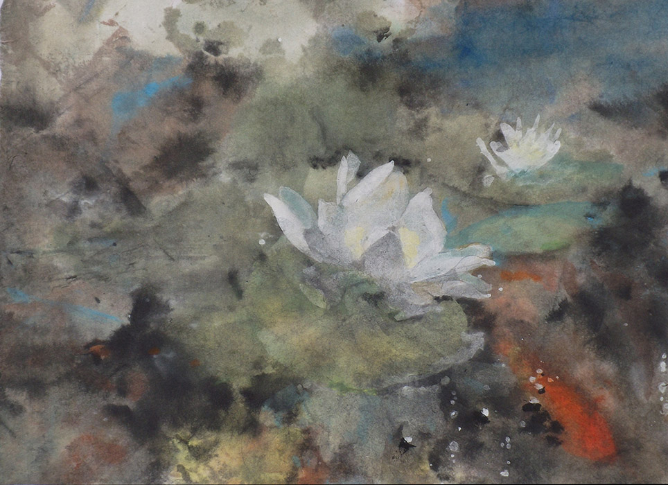 Water Lilies and Koi