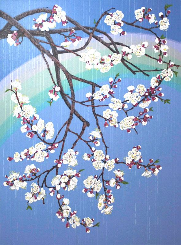 Apricot Blossoms 13x17 silkscreen print.jpg