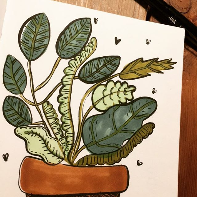 Quick inktober no.29 #inktober #ink #plants