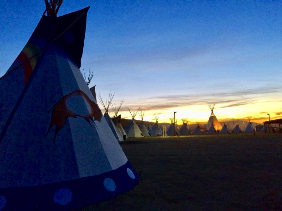 Treaty 4 Powwow grounds. Photo credit: Margaret Kisikaw Piyesis