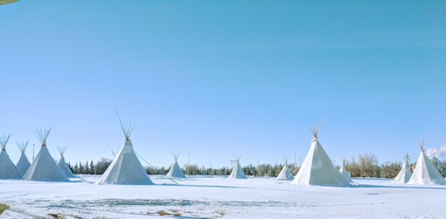 Tipis locaTED AT THE FIRST NATIONS UNIVERSITY OF CANADA