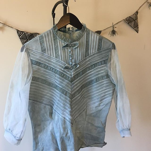 This #indigo dyed vintage shirt is for sale 💙 $45 dm for more info
