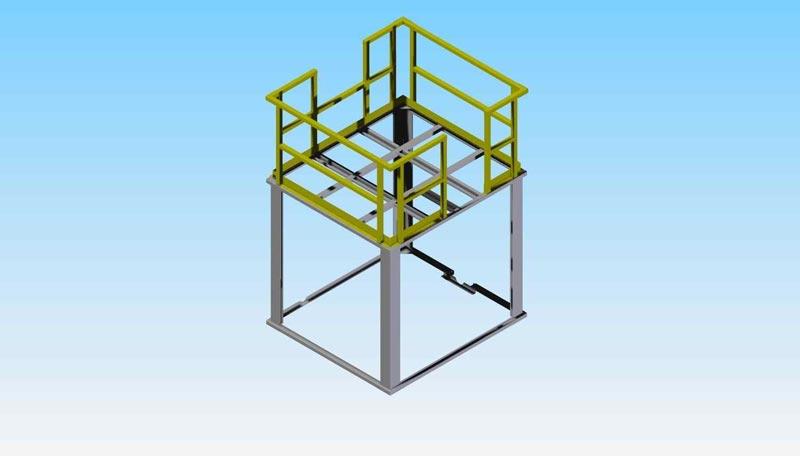 CAD CONCEPT: Large HVAC Frame / Bolted