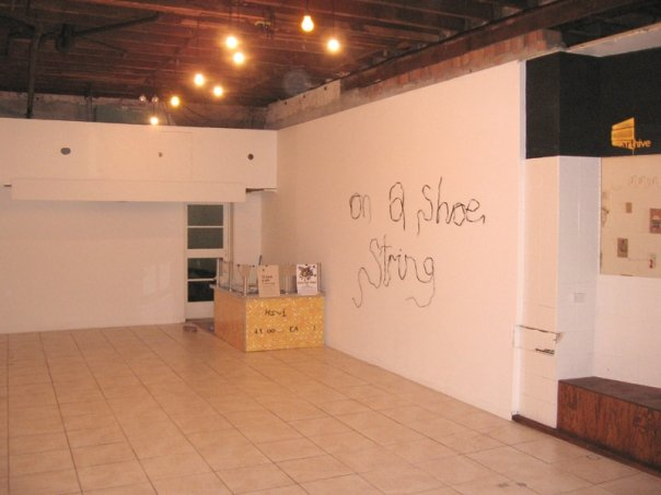 On A Shoestring pop-up exhibition space.