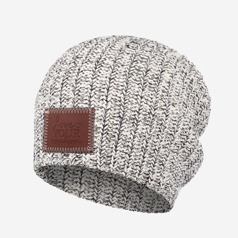 Love your melon hat $30.00-$45.00 Price is depending on if you get the one with the pom or not. Every girl loves these hats and you are also helping a cause with buying one! When you buy one of these hats 50% of profits are given to help fight against pediatric cancer.   https://loveyourmelon.com/collections/bestsellers/products/black-speckled-beanie1