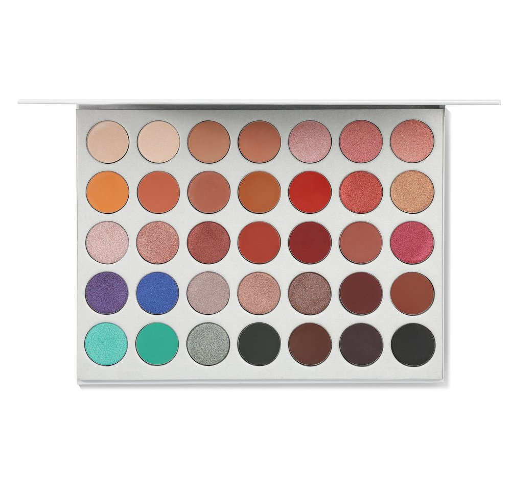 MORPHE THE JACLYN HILL EYESHADOW PALETTE $38.00 I have this palette myself and I adore it! The only annoying thing is it kinda sucks to travel with cause its so big. This gift is perfect for someone who is just starting their makeup collection! You get beautiful neutrals and some fun colors to play with too.    https://www.morphebrushes.com/collections/best-sellers/products/jh2-jaclyn-hill-ii-palette