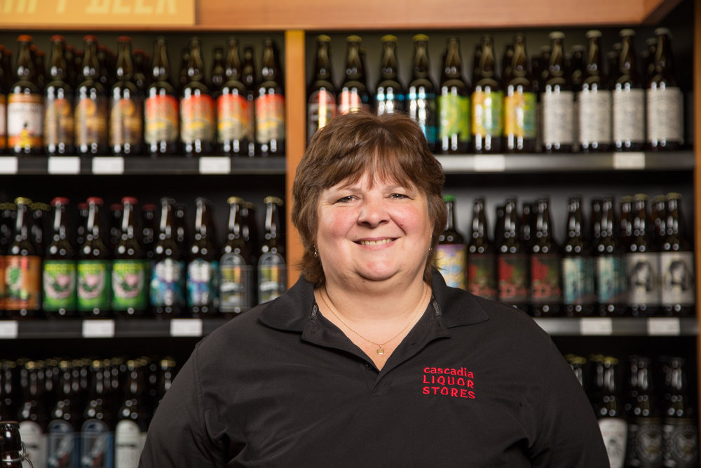 CATHY CARLSON GM, COLWOOD  PRUD'HOMME LEVEL 1 / WSET LEVEL 2  With a background of over 35 years in hospitality and liquor retail, Cathy leads a team that constantly strives to exceed the customer's expectations. Cathy is always available to help you find that perfect bottle of wine, or show you the latest hard-to-find craft beer release.  Email:  cathy@cascadialiquor.com