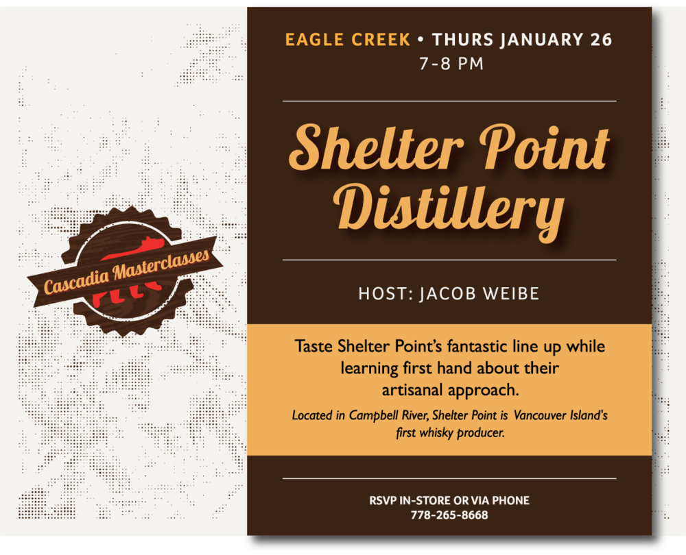 SHELTER POINT DISTILLERY MASTERCLASS