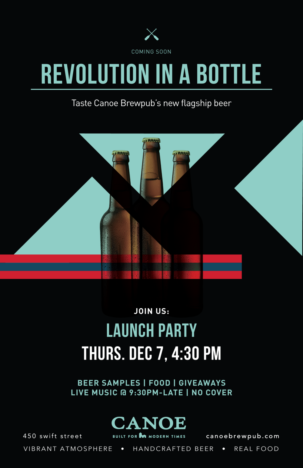 revolution in a bottle, canoe brewpub