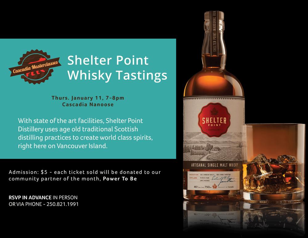 Shelter Point Whisky Tastings