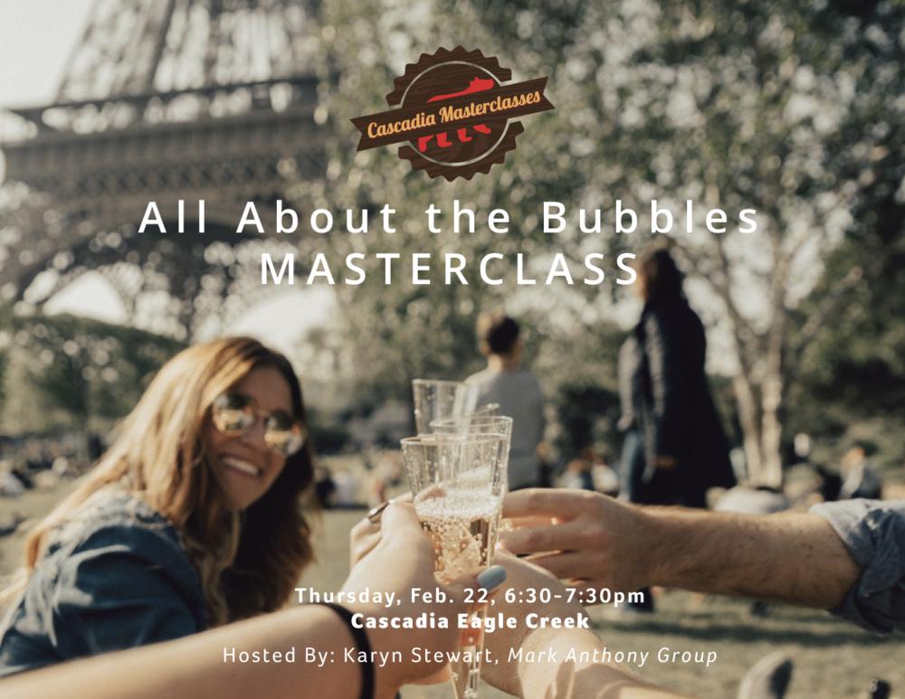 bubbles, masterclass, champagne, sparkline wine