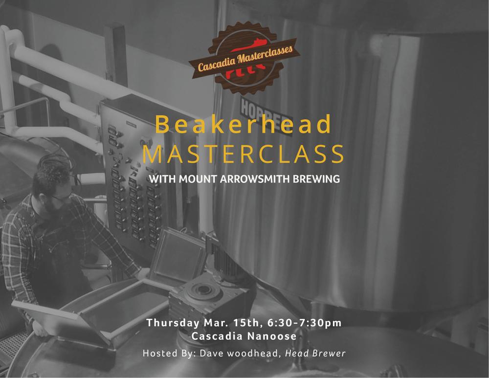 nanoose, beakerhead, masterclass, mount arrowsmith brewing