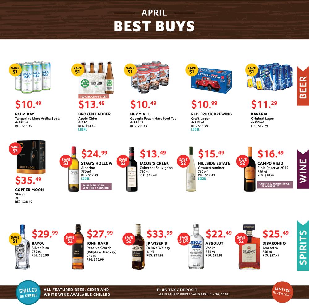 April Best Buys, Cascadia Liquor
