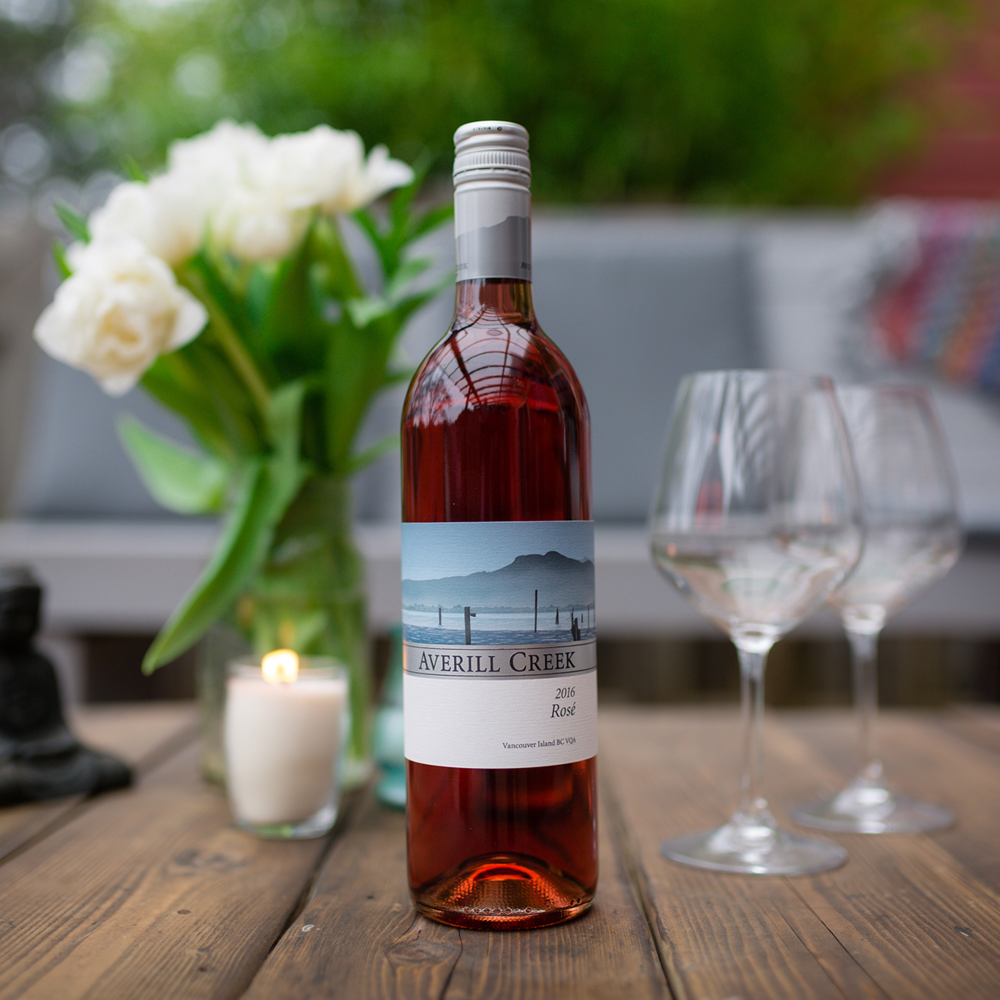 Rosé - Bright aromatics of raspberry and watermelon, yet refreshingly dry, this merlot and pinot noir rosé has jucy acidity that makes it a versatile wine with any dish. Serve with friends!$21.99, 750ml